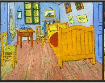 Room by Van Gogh Museum from Vincent Van Gogh from Robert Kaufman Fabric by the Panel