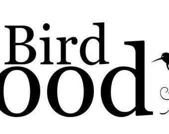 Bird Food Decal, Bird Food Label, Bird Food Sticker