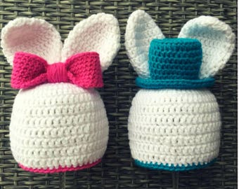 Easter bunny hats made to order! Adult sizes.