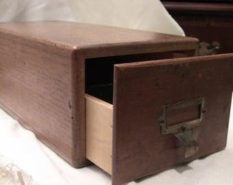single Oak file cabinet, 3x5 card file