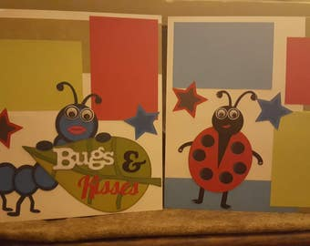 Bugs & Kisses Premade 12x12 scrapbook layout