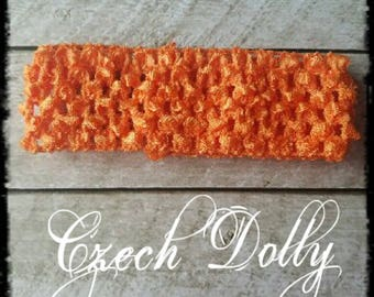 "Crochet Headband 1.5"" Orange"
