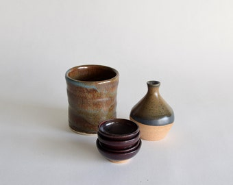 Pottery Gift Set - Neutral Colors Gift Bundle - Pottery Gift Set - Discounted Bundle