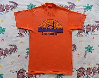 RESERVED Vintage 70's ChicagoFest T shirt, size Small Rock Music Festival