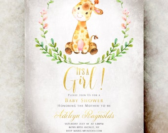 Baby shower invitation girl printable, baby shower invitation girl, unique baby shower invitations, baby girl shower invitation