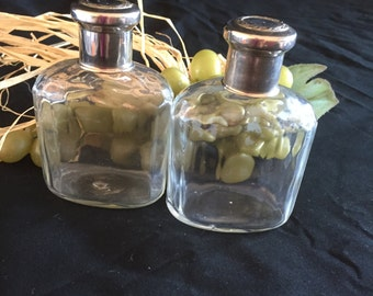 A028  Vintage cologne and after shave bottles