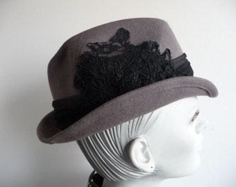 Gray Customised Trilby (100% Wool)