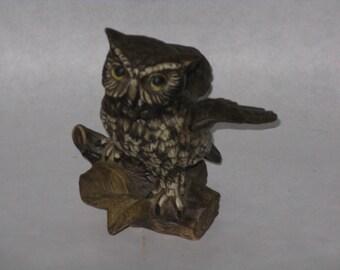 Vintage ceramic owl figurine marked