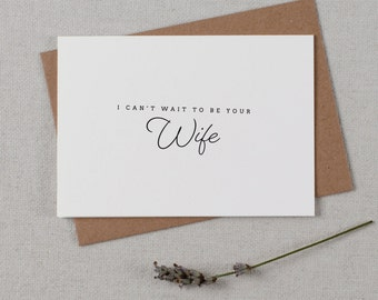 I Can't Wait To Be Your Wife, Wedding Card to Groom, I Can't Wait To Marry You, Wedding Day Card, Wedding Cards, To My Future Husband, K1