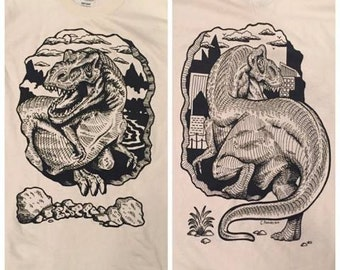Front/Back REPTAR T-REX tees