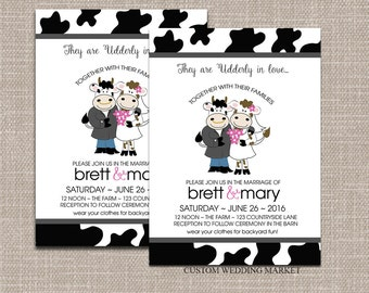 Cow Wedding Etsy