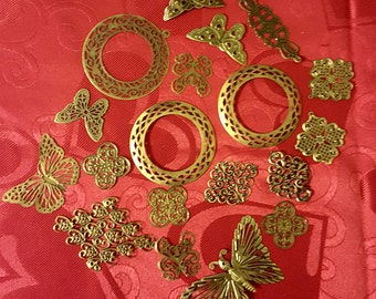 Decorative Metal Filigree - 20 pieces - Lot 8