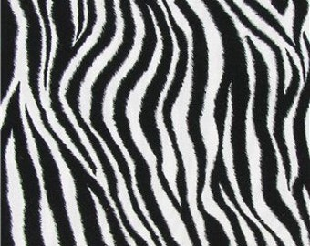 Zebra Black & White Animal print Fabric - 100% Cotton Quilting Apparel Crafts Home decor