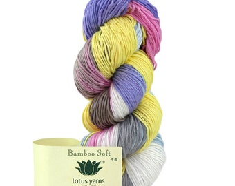 hand knitting 100%bamboo yarn just in time for spring and summer