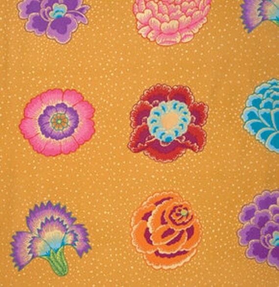 CORSAGE Gold by Kaffe Fassett  PWGP149.GOLDX Sold in 1/2 yd increments