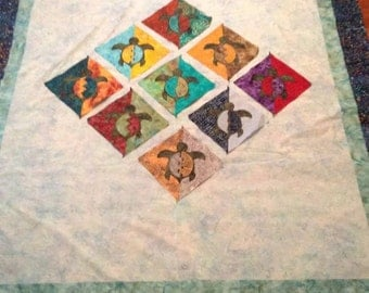 Sea Turtle Quilt / Turtle Quilt / Homemade Quilt