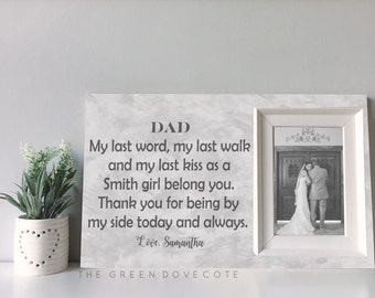 Custom Wedding Frame - Gift For Him - Father Of The Bide Gift  - Personalized Gift For Dad - Personalized Wedding Gift For Dad