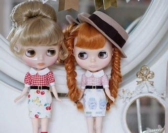 Handmade Blythe Outfit 1/6 Dolldress Little Cherry