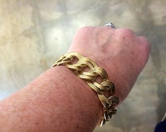 Vintage Gold Tone Monet Chain Bracelet