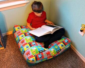 Kids Floor Pillow   Floor Cushion   Monster Decor   Oversized Pillow   Kids  Room Decor