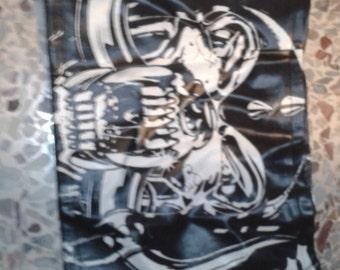collectible anni 80s RARE Motorhead skirt leather heavy metal rock zip
