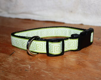 1 inch wide GREEK Plastic Buckle Collars - PERSONALIZED