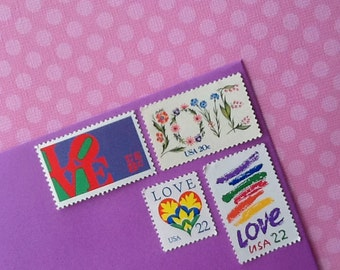 Wedding Stamps; Vintage Postage, Love Stamps; enough for 10 two ounce letters