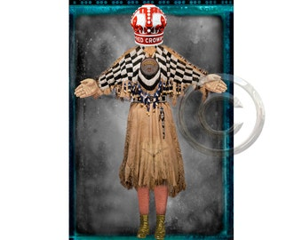 Playing Card 33 ,  Inkjet print 6x9 image on 11x14 archival paper