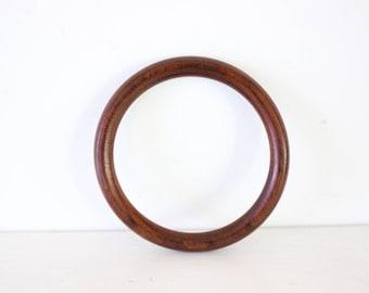 vintage wooden bangle thin wood dark colour bohemian boho beach tribal