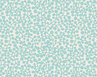 Sale - Art Gallery Fabrics - Modernology Collection - Vines - Aqua - Premium Cotton MO-4809