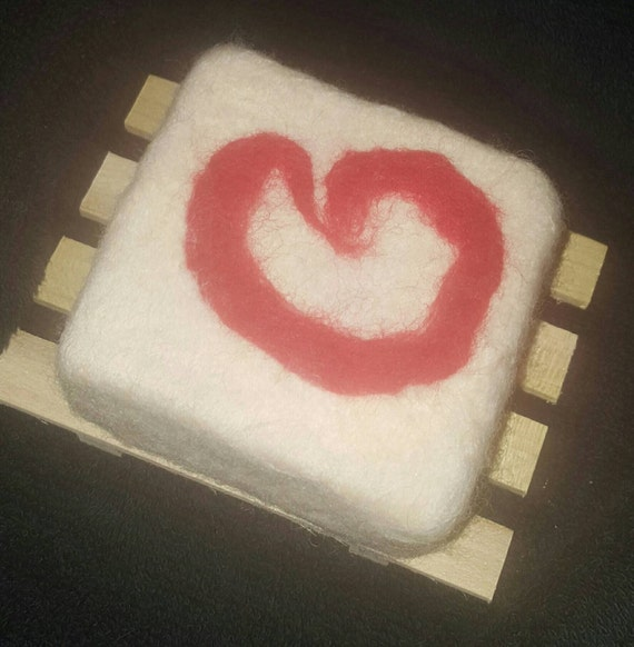 Felted Bar Soap, merino wool roving, hostess gift, unique gift, Valentine's Day for men, FREE soap dish included.