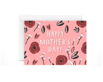 Happy Mother's day card - mothers day stationery mothers day card love mom