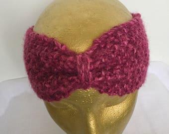 Raspberry Bow Headband