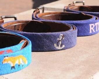 Custom Needlepoint Belts