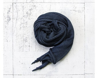 Blue linen scarf. Linen Christmas gift.Linen shawl. Linen wrap. Long scarf. Long linen shawl. Natural linen. Linen scarves. Men scarf.