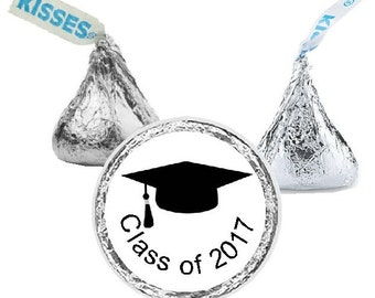 Graduation, Class of 2017, Candy Stickers, Graduation Cap, Hershey Kiss Stickers, Graduate, Favors, Small, Envelope Seals, 108 Stickers