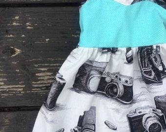 Vintage camera dress 18-24mos RTS