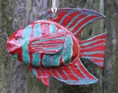 Haitian Hand Crafted, ACFFC Classic Hand Painted Paper Mache Fish