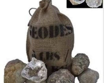 "Large 3"" Break Open Your Own Geodes Gift Bag - 6 Pack"
