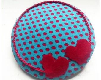 "Fascinator, headpiece, headdress ""hearts for sale"""