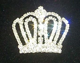 Style # 11897 Rhinestone Crown Pin