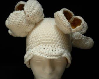 Crochet Popcorn Kernel hat