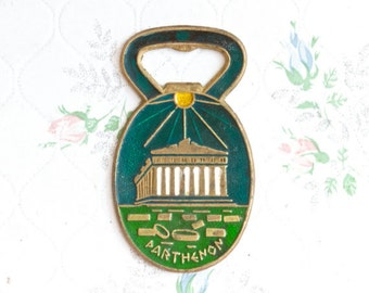 Parthenon Bottle Opener - Enamel on Brass - Souvenir from Athens Greece