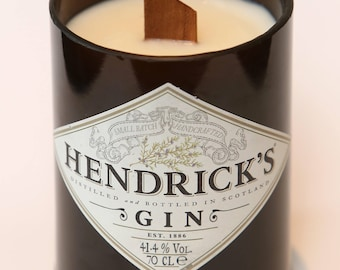 Hendricks Gin Bottle Candle scented with Juniper