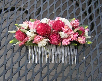 Bridal Hair Comb, Dried Flower Comb, Wedding Hair Comb, Bridal Hair Accessory, Dried Flowers, Bridesmaid's Hair Comb, Flower Girl Comb