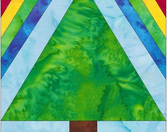 Under the Rainbow 10 Inch Paper Piece Foundation Quilting Block Pattern