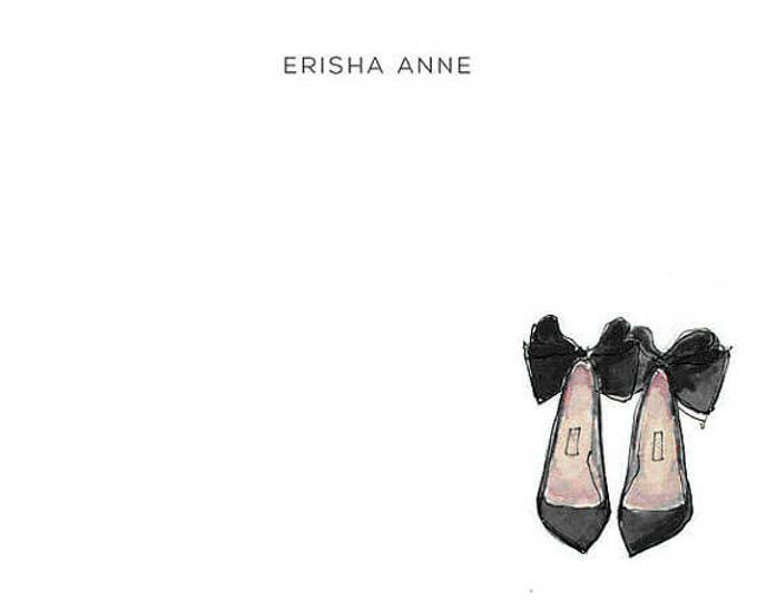 Personalized Stationery Set: Bow Pumps