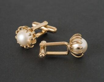 Vintage Pearl  Cufflinks   Pearl