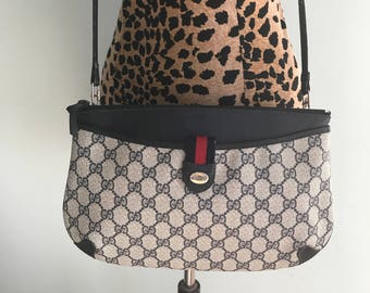 Vintage Gucci Supreme Clutch Cross Body Bag