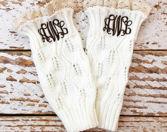 Monogrammed Boot Cuffs, Personalized Boot Cuffs, Boot Cuffs, Monogram Boot Cuff, Monogrammed Sock, Boot Sock, Personalized Boot Socks, Cuff